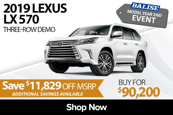 2019 Lexus LX 570 Three-Row demo