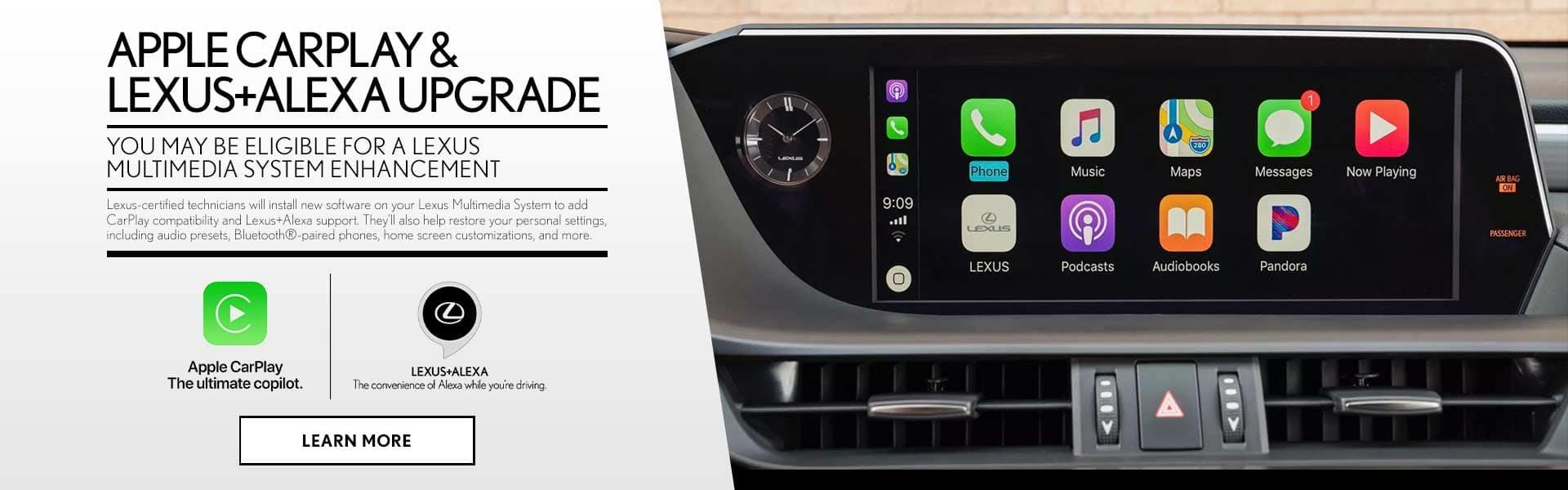 Lexus Apple Car Play and Alexa Upgrade