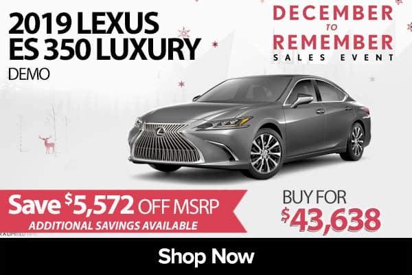 2019 Lexus ES 350 Luxury demo