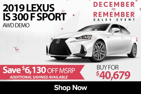 2019 Lexus IS 300 F SPORT AWD demo