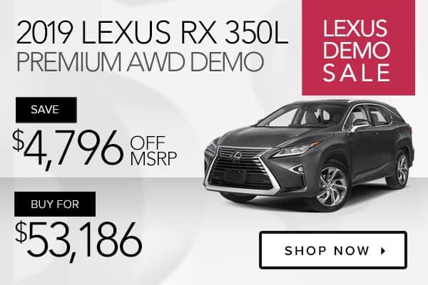 2019 Lexus RX 350L Premium AWD demo