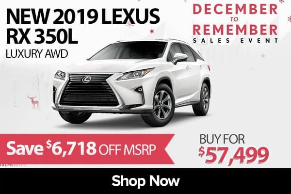 New 2019 Lexus RX 350L Luxury AWD