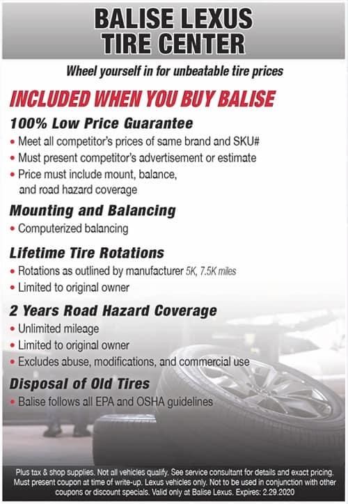 Balise Lexus Tire Center