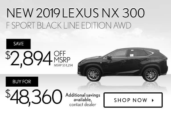 New 2019 Lexus NX 300 F Sport AWD Black Line Edition