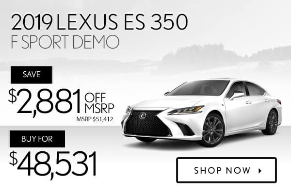2019 Lexus ES 350 F Sport demo