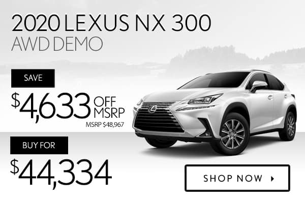 2020 Lexus NX 300 AWD demo