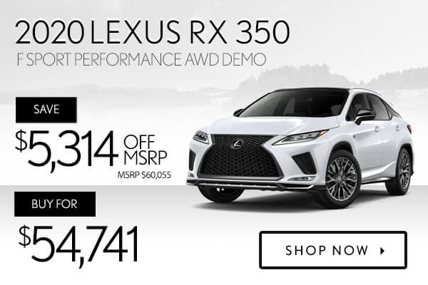 2020 Lexus RX 350 F Sport Performance AWD demo