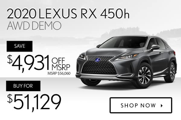 2020 Lexus RX 450h AWD demo