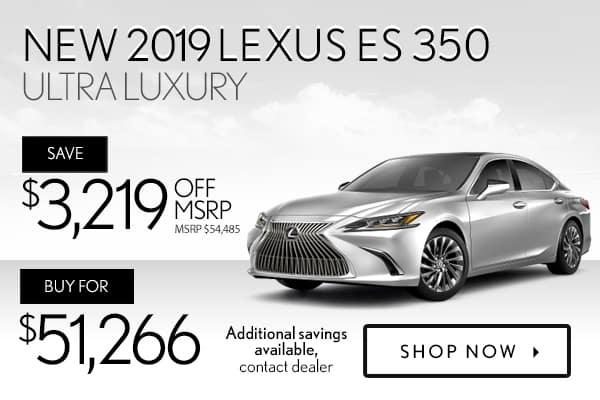 New 2019 Lexus ES 350 Ultra Luxury