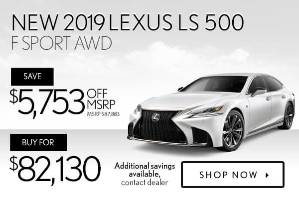 New 2019 Lexus LS 500 F Sport AWD