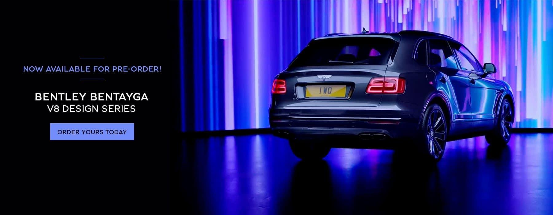 Back angle of the Bentayga V8 Design Series
