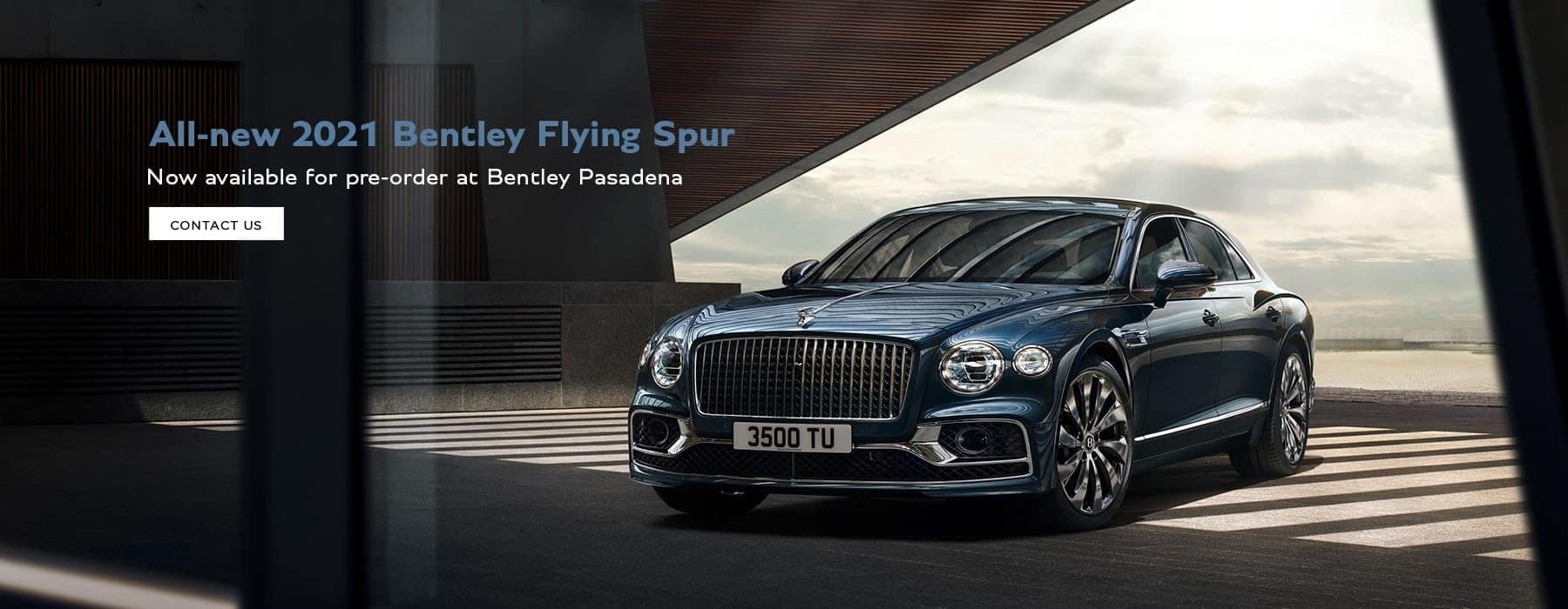 Front angle of the 2021 Bentley Flying Spur