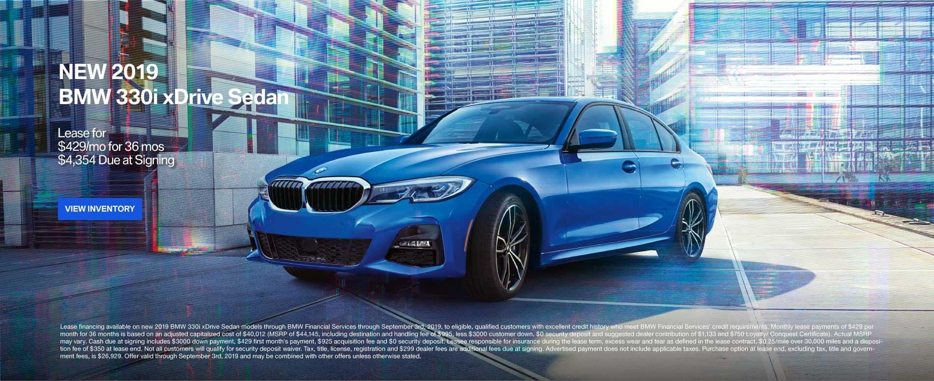 New 2019 BMW 330i