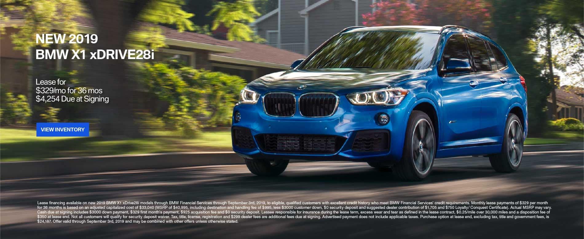 New 2019 BMW X1