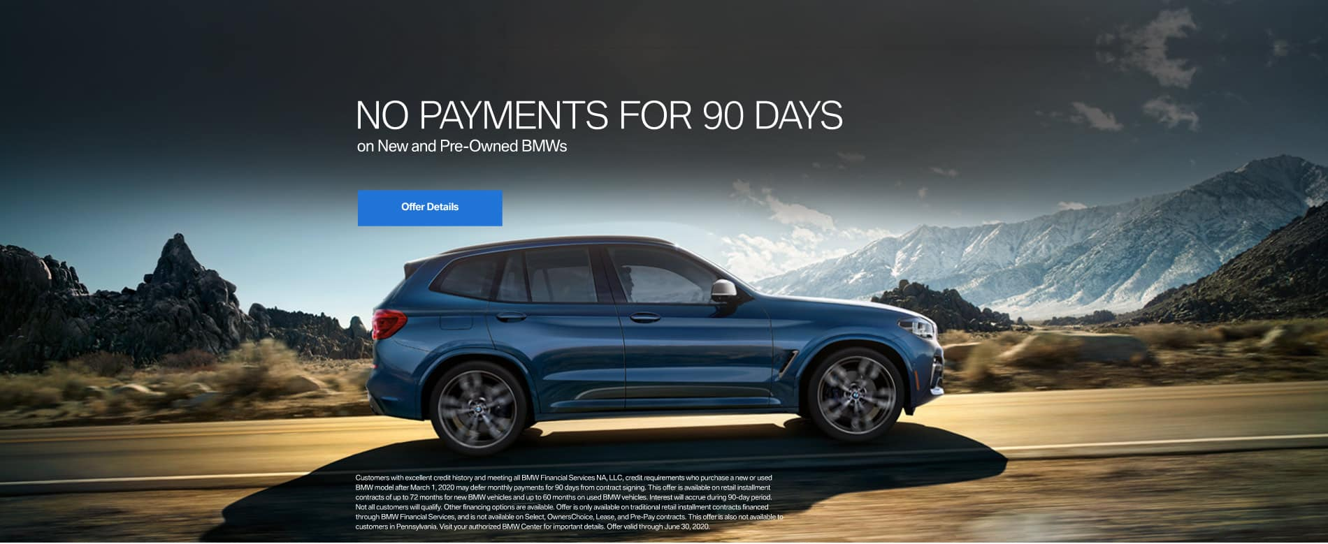 No Payments for 90 Days on New or Pre-owned BMWs - Click to View Inventory
