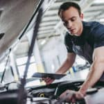 Handsome auto service mechanic.