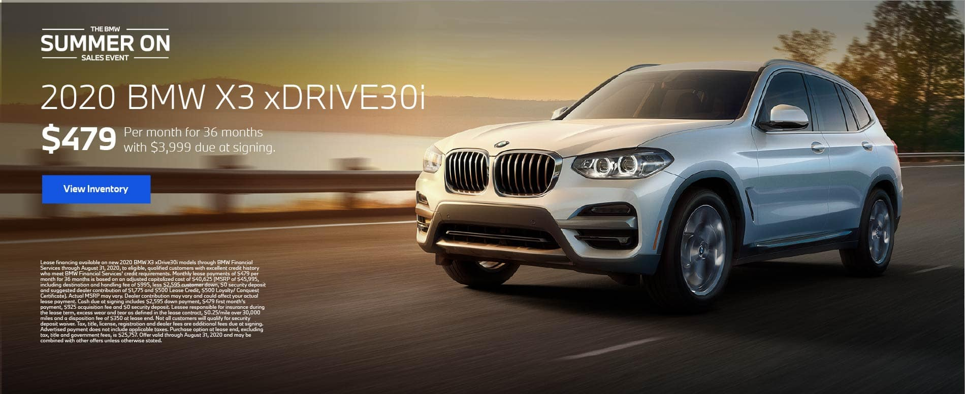2020 BMW X3 xDrive30i $479 a month for 36 months | Offer Details