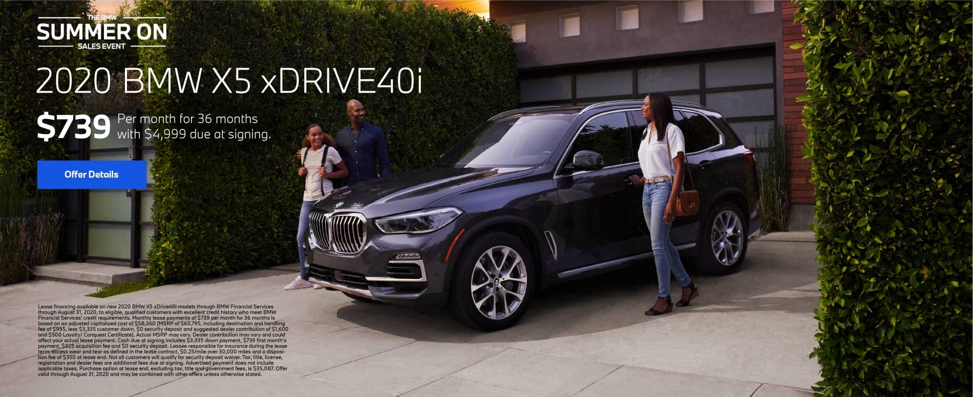 2020 BMW X5 xDrive40i $739 a month for 36 months | Offer Details