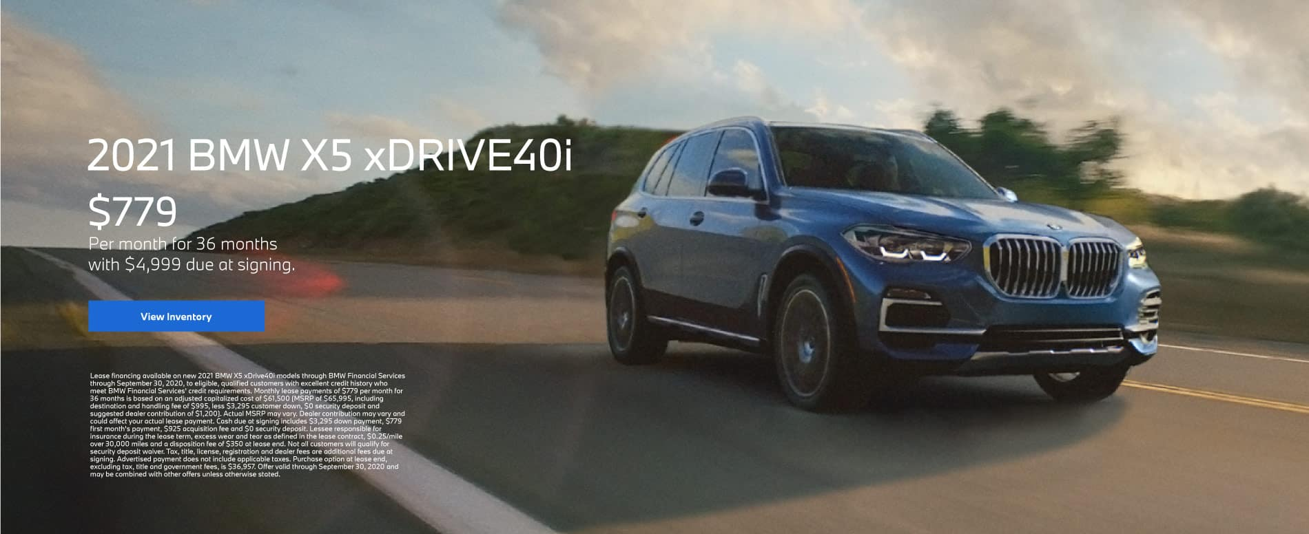 2021 BMW X5 xDRIVE40i - Lease for $779 Per Month for 36 Months - $4,999 Due At Signing. Click for offer