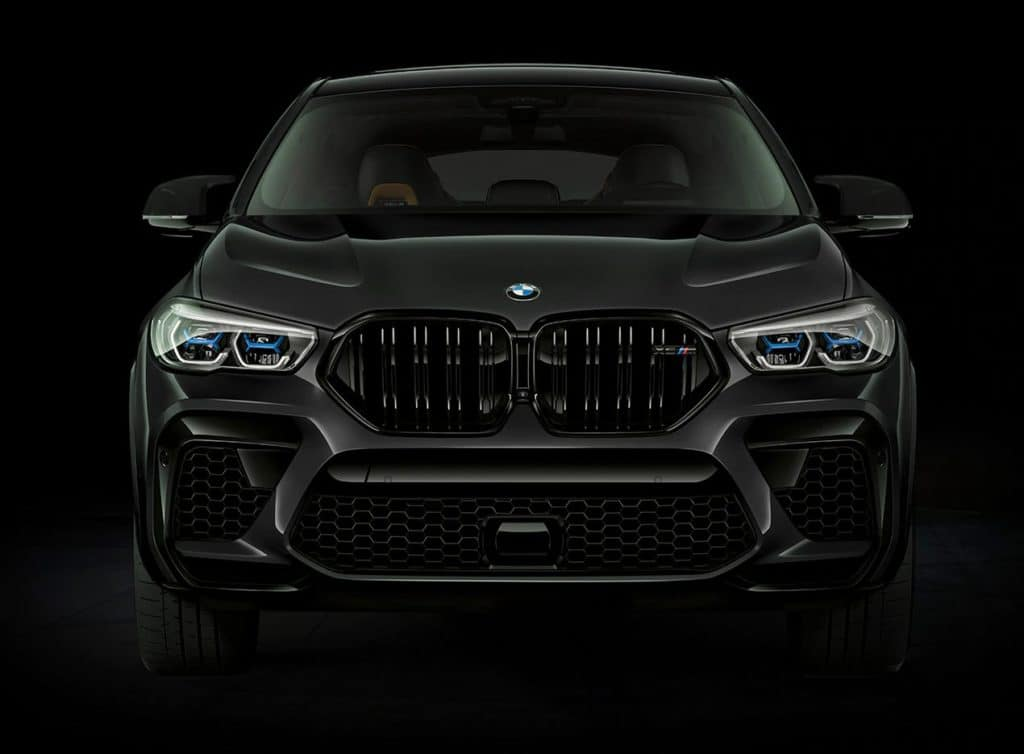 X6 front fascia against black background