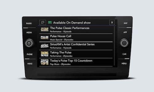 2021 Volkswagen Atlas SiriusXM On Demand options