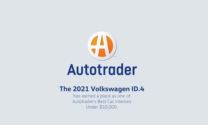 2021 Volkswagen ID.4 best car interior under $50,000