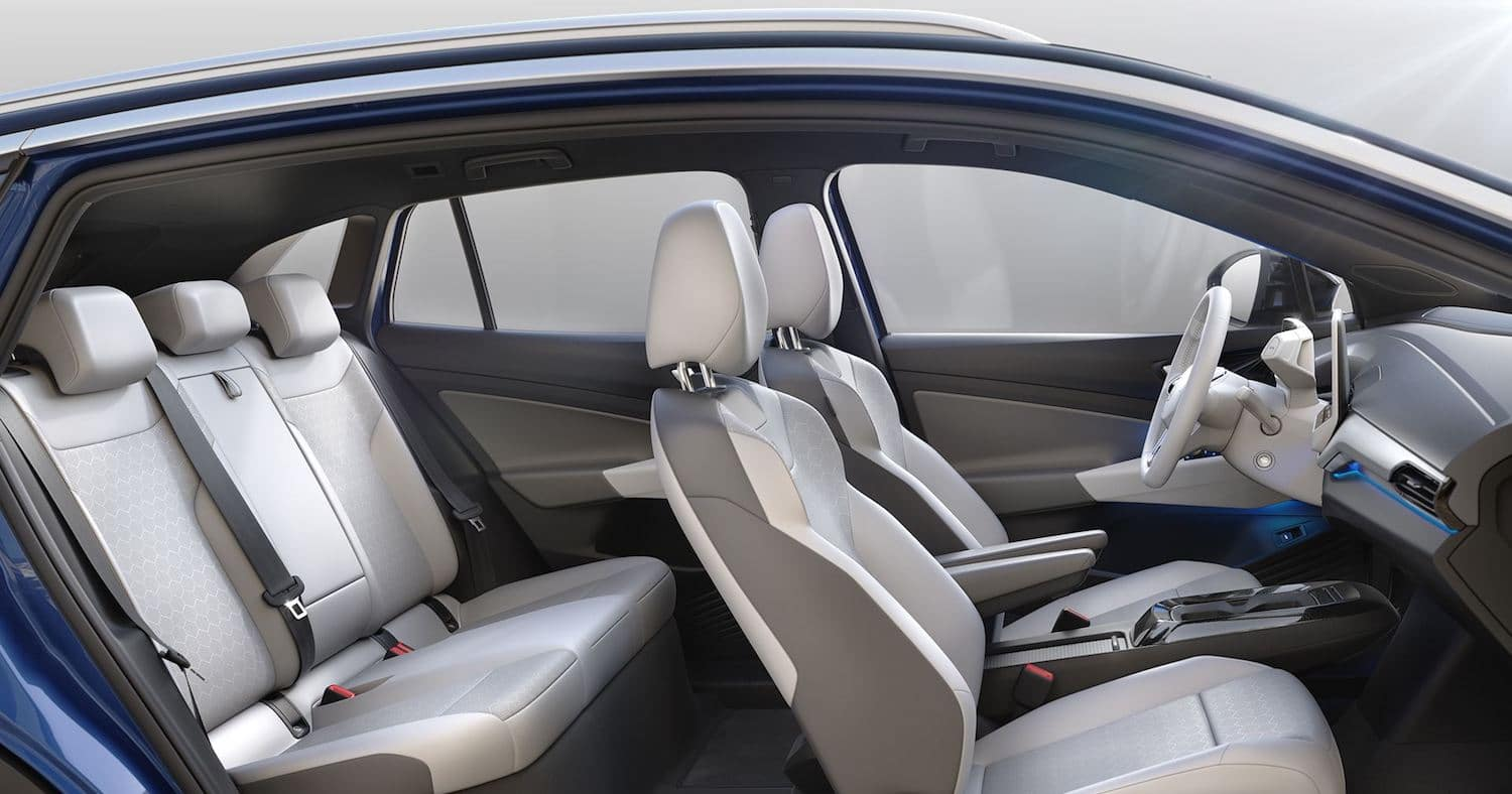 2021 Volkswagen ID.4 interior design and seating layout