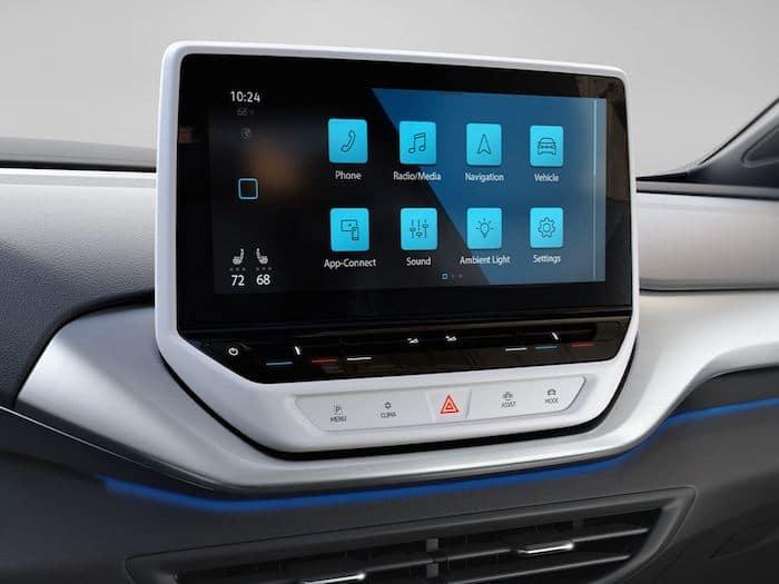 2021 Volkswagen ID.4 has a 12 inch touchscreen