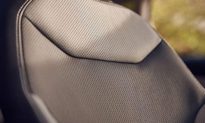 2022 Volkswagen Taos available ventilated leather seats with contrast stitching