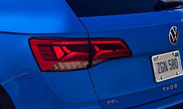 2022 Volkswagen Taos LED tail lights