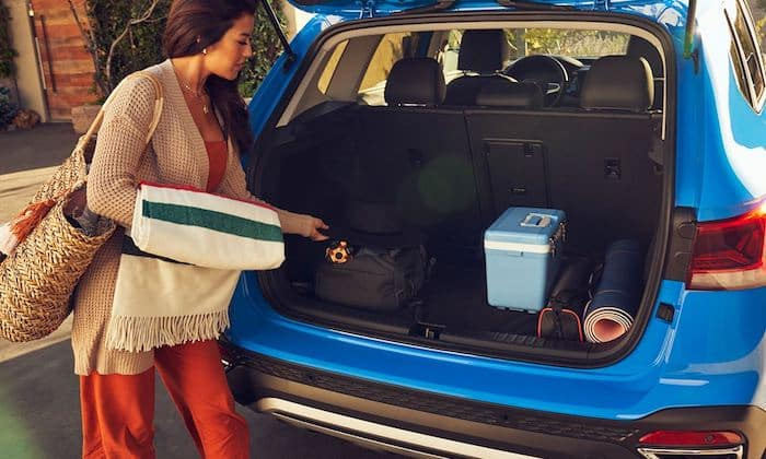2022 Volkswagen Taos available 12V power outlet in cargo space area