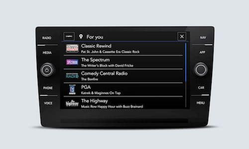 2022 Volkswagen Taos SiriusXM touchscreen interface showing For You options