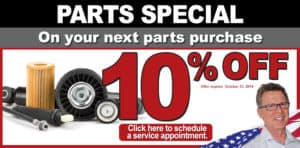 Parts Special - 10% off banner