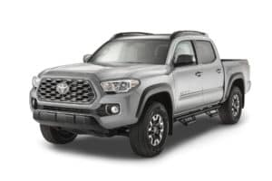 Toyota Tacoma Silver Front Side View