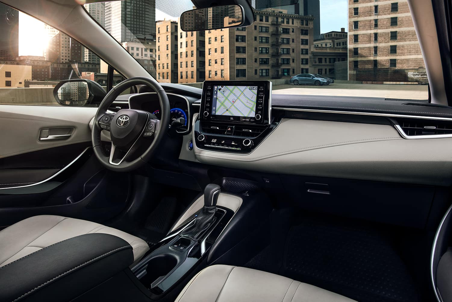 A Hybrid for Everyone at Boch Toyota | the interior of the 2020 toyota corolla hybrid