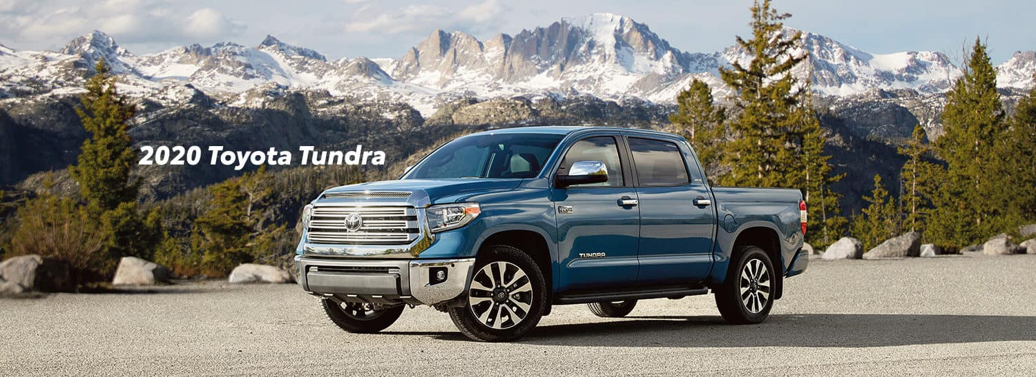 Comparison of the Toyota Tacoma vs. Tundra at Boch Toyota of Norwood | 2020 Toyota tundra parked in a lot