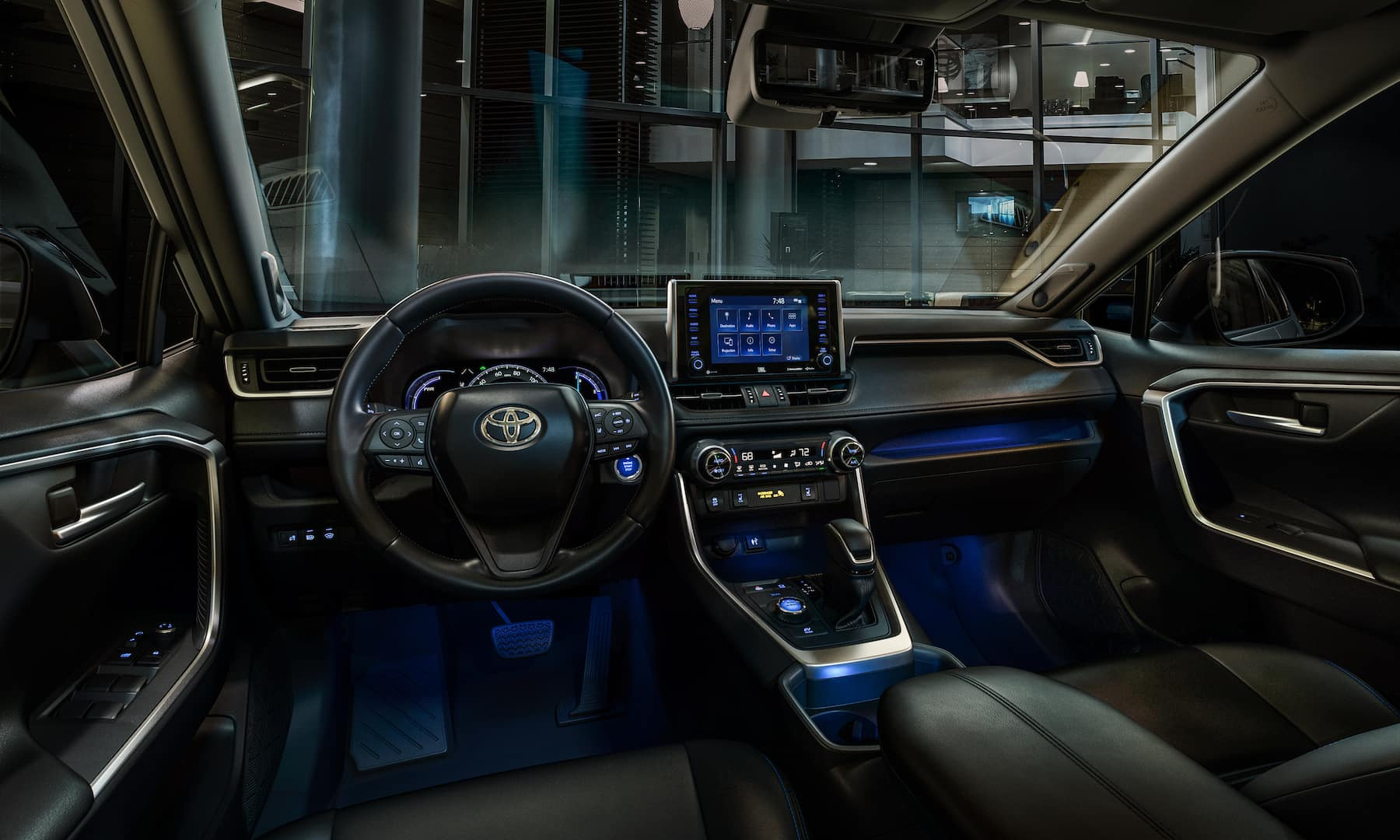 A Toyota Hybrid for Everyone: Quick Facts at Boch Toyota   the interior of the rav4 hybrid