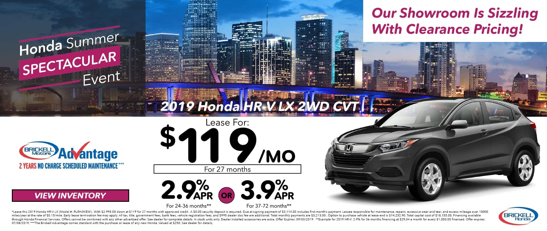 Honda Summer Event 2019 Honda HR-V LX