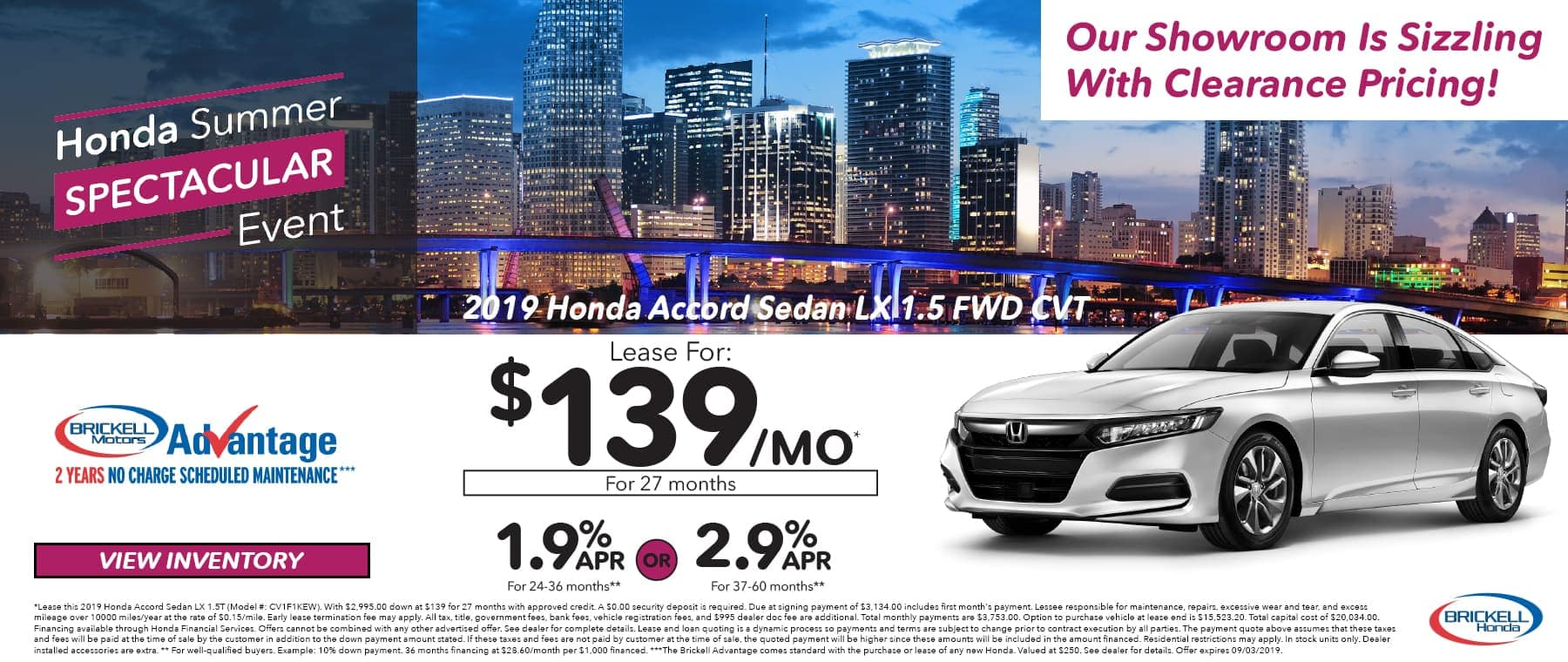 Honda Summer Event 2019 Honda Accord Sedan LX 1.5