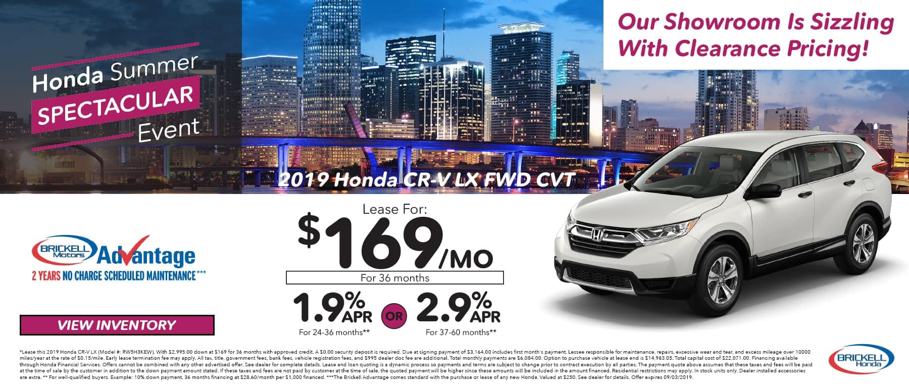 Honda Summer Event 2019 Honda CR-V LX FWD