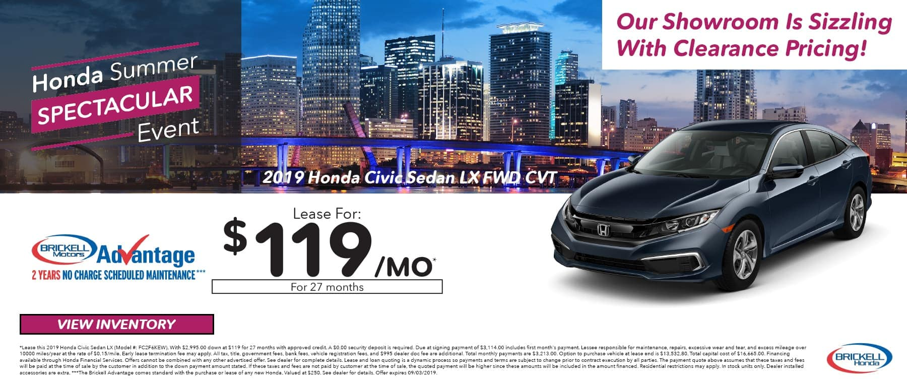 Honda Summer Event 2019 Honda Civic Sedan LX FWD
