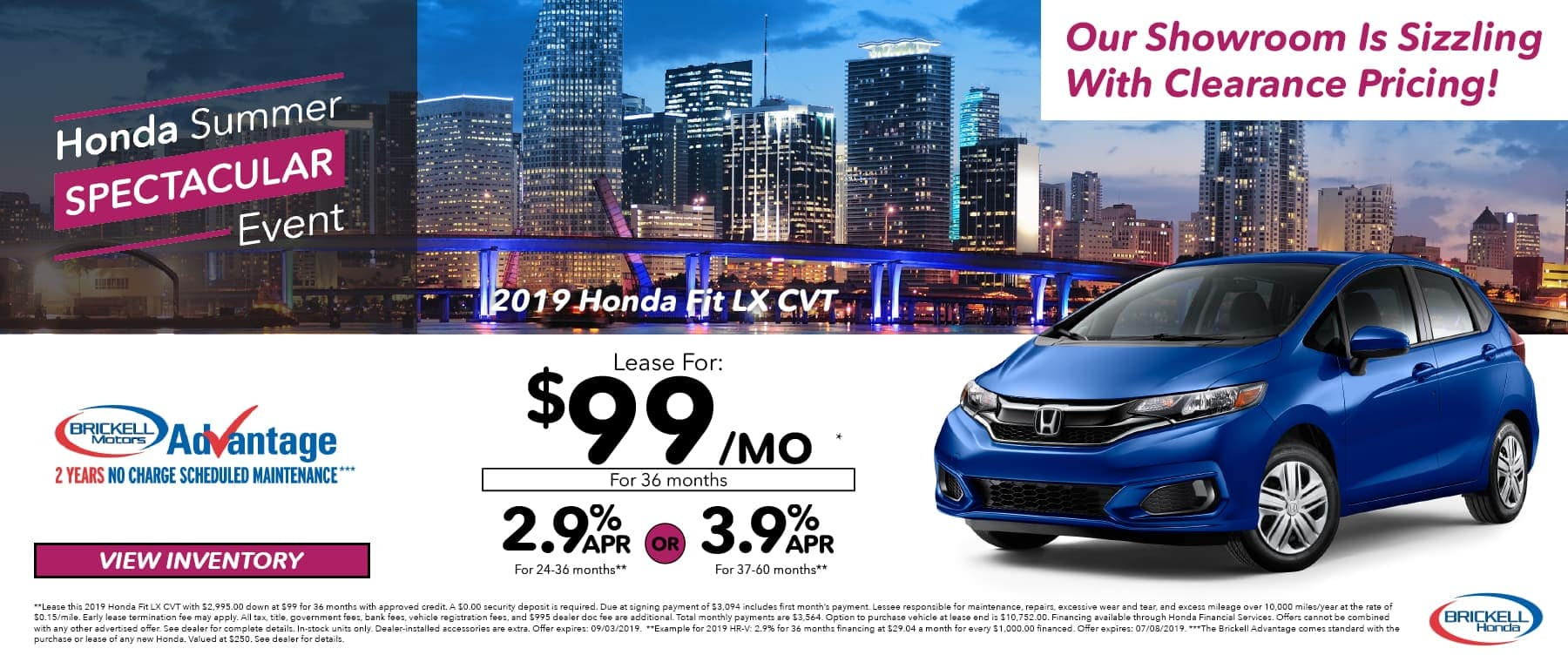 Honda Summer Event 2019 Honda Fit LX CVT