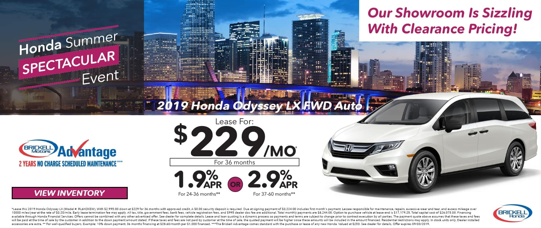 Honda Summer Event 2019 Honda Odyssey
