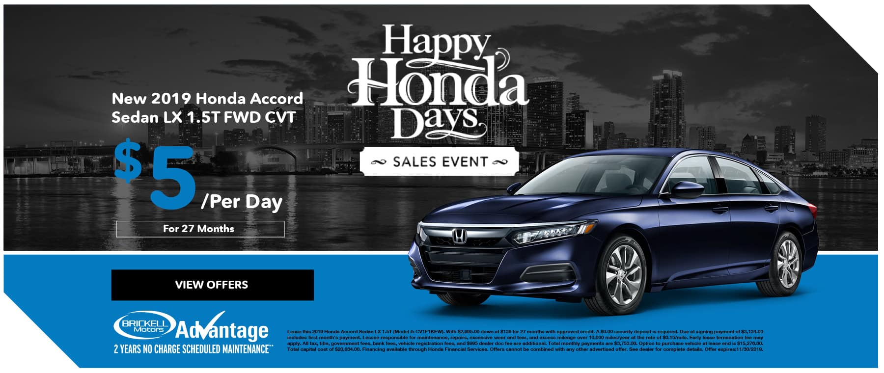 Brickell Honda Accord Happy Honda Days