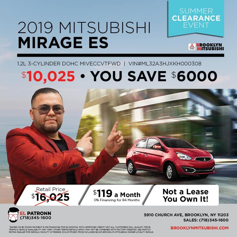 New 2019 Mitsubishi Mirage ES