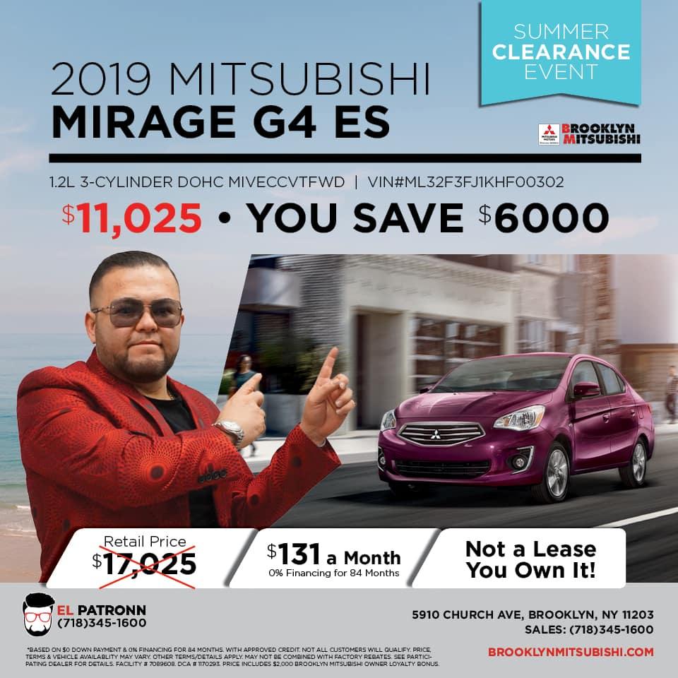 New 2019 Mitsubishi Mirage G4 ES FWD 4D Sedan