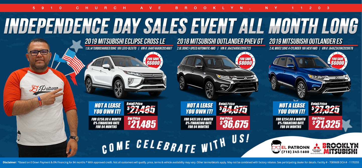 Independence Day Sales Event All Month Long