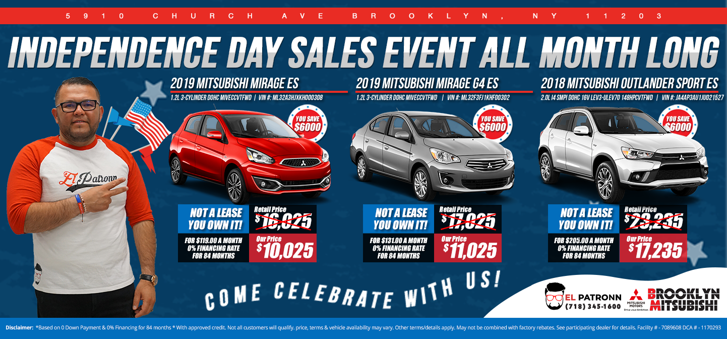 Independance Day Sales Event All Month Long