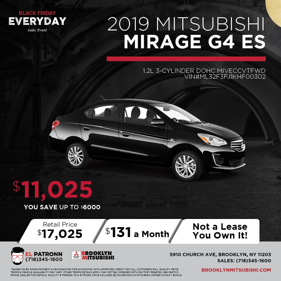 New 2019 Mitsubishi Mirage G4 ES FWD 4D Sedan
