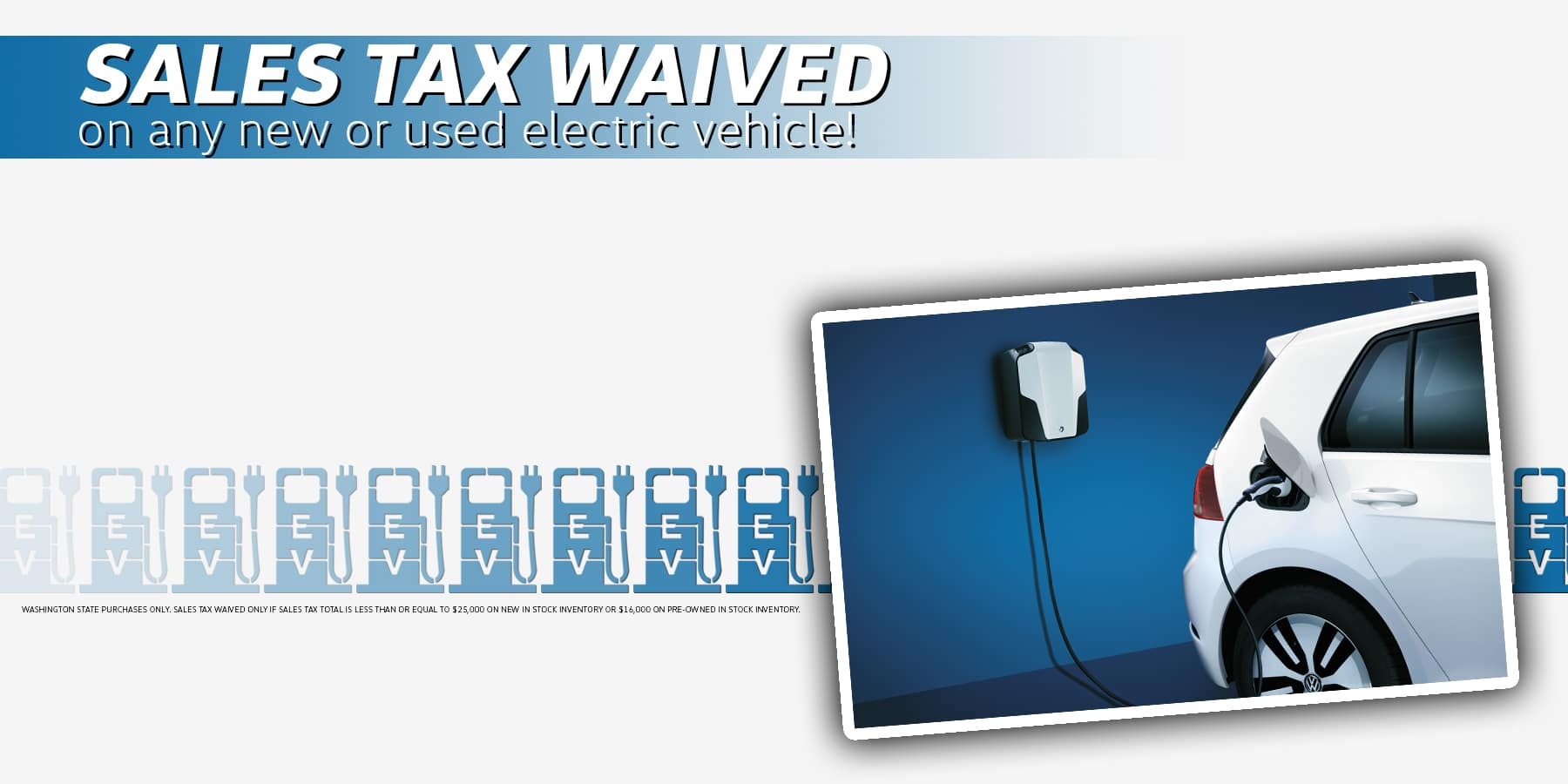 wa state ev tax waived